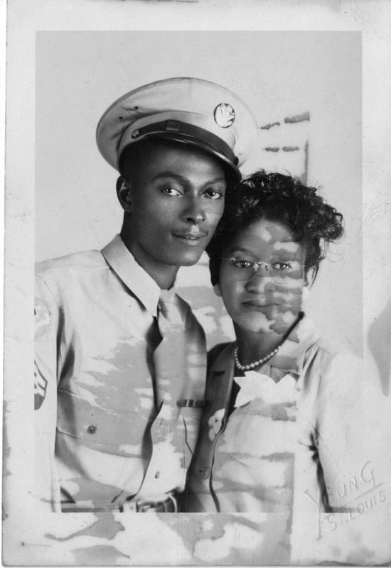 Photograph, Black Serviceperson and Woman, undated<br />