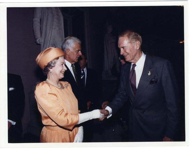 Sonny Montgomery with Queen Elizabeth II