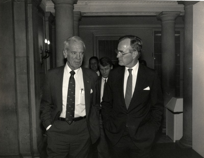 Sonny Montgomery with President George H.W. Bush