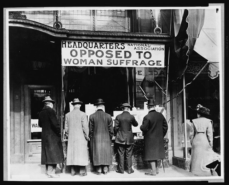 Headquarters - opposed to suffrage