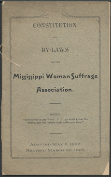 Mississippi Women Suffrage Association By-Laws