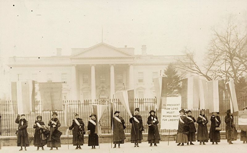 National Women's Party Picketing White House