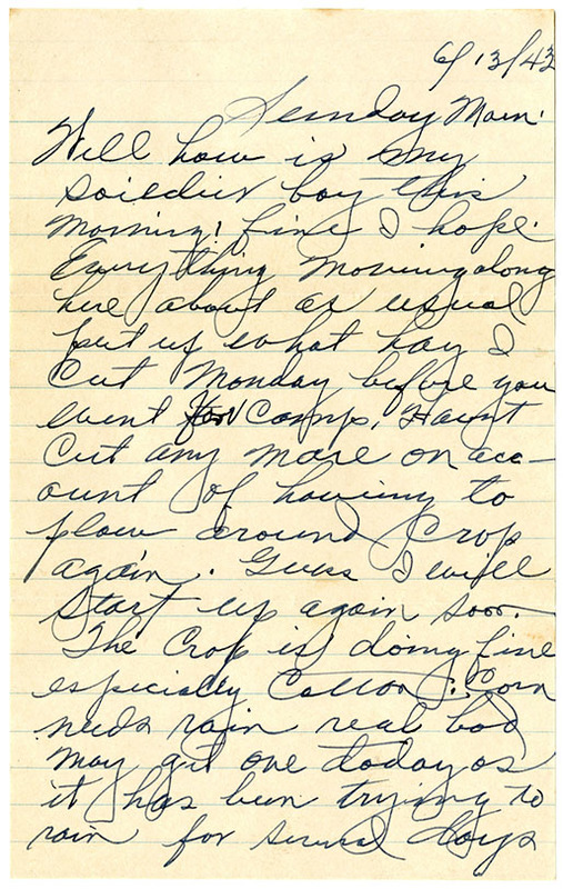 Letter, George S. Oakley to F. Warren Oakley, June 13, 1943