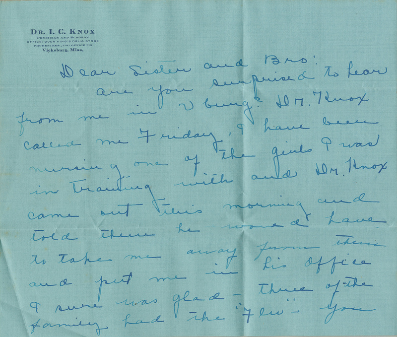 Letter, Winnie Brooks to Clyde and Augusta Brooks, August 11, 1918
