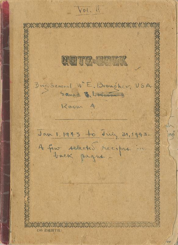 Diary, Brigadier General William E. Brougher, January 1, 1943-January 10, 1943