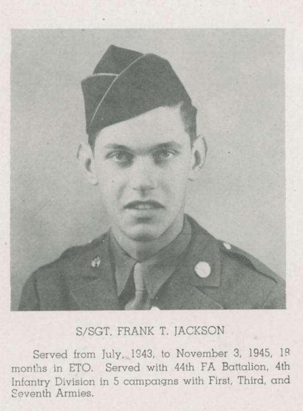 Photograph, Frank T. Jackson, 1946