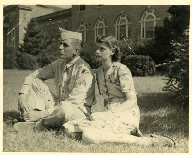 Photograph, F. Warren and Mary Oakley, circa 1943