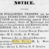 <em>Natchez Democrat</em> clipping