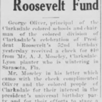 <em>Clarksdale Press Register</em> clipping