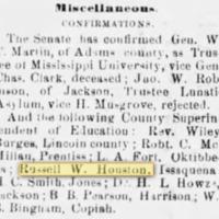 <em>Vicksburg Herald</em> clipping
