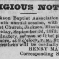 <em>Daily Mississippi Pilot</em> clipping
