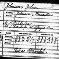 Civil War pension record