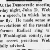<em>Weekly Democrat-Times</em> clipping