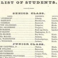 Excerpt from Tougaloo College catalog