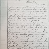 Letter from Hugh M. Foley to Ulysses S. Grant