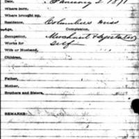 Freedman's Bank record for Robert Gleed