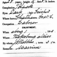 Civil War service record for Richard Christmas