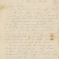 """Letter, William S. """"Billy"""" Jackson to his parents, undated"""